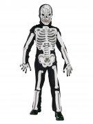 Gruseliges Skelett Halloween Kinderkostüm Tod schwarz-weiss