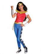 Wonder Woman™-Mädchenkostüm Super Hero Girls™ Halloweenkostüm rot-blau-gold