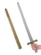 Römerschwert Mittelalter Waffe gold-grau 75cm