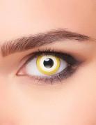 Fantasy Kontaktlinsen Halloween-Kostümzubehör gelb-weiss