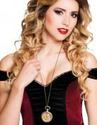 Steampunk-Halskette Taschenuhr silberfarben