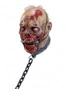 Versklavter Zombie in Ketten Halloween-Maske bunt