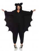 Fledermaus-Kostüm Kigurumi-Damenkostüm schwarz