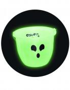 Nachtleuchtender Bonbon-Eimer Trick or Treat Halloween-Accessoire weiss