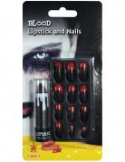 Halloween-Make-up Set 11-teilig schwarz-rot