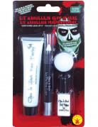 Nachtleuchtendes Halloween-Make-up 4-teilig weiss