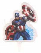 Captain America™-Geburtstagskerze bunt 9,5x6,5cm