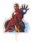 Iron Man™-Geburtstagskerze bunt 9cm