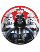 Star Wars Final Battle™ Pappteller-Set schwarz-weiss-rot 23cm