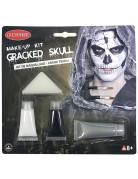 Skelett Schmink-Set Halloween Make-up 6-teilig schwarz-weiss