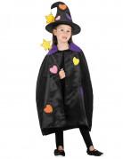 Hexen-Set mit Herzen Halloween-Accessoires für Kinder 3-teilig schwarz-bunt