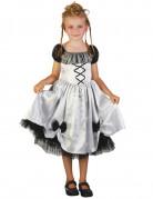 Gothic-Kinderkostüm für Halloween weiss-schwarz