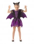 Kleine Fledermaus Halloween Kostüm für Kinder lila-schwarz