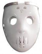 2 in 1 Hockey-Maske für Erwachsene weiß-silber