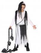 Schauriger Sensenmann Geist Halloween Kinderkostüm weiss-schwarz