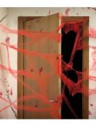 Spinnennetz mit Spinnen Halloween-Deko rot 20g