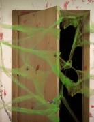 Halloween Deko-Spinnennetz 20g grün