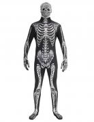 Skelett-Morphsuit Tag-der-Toten-Kostüm schwarz-weiss