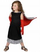 Dalmatiner-Lady Mädchenkostüm schwarz-weiß-rot