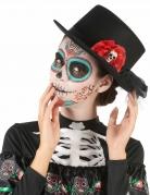 Dia de los Muertos Halloween-Zylinder schwarz-rot