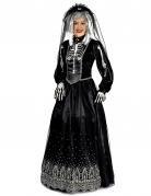 Skelettbraut-Kostüm Halloween-Damenkostüm schwarz-weiss
