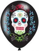 Dia de los Muertos Luftballons Halloween-Partydeko 6 Stück bunt
