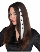 Halloween-Haarverlängerung mit Spinnen Kostüm-Accessoire weiss-schwarz