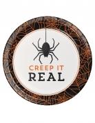 Pappteller Halloween Creep it real 8 Stück weiß-schwarz-orange