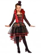 Viktorianische Vampirin Halloween Kostüm für Kinder rot-schwarz