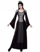 Böse Königin Halloween-Märchenkostüm für Damen schwarz