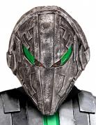 Ausserirdischer-Roboter-Maske Alien-Maske grau-grün