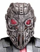 Cyborg-Maske für Erwachsene silber-rot