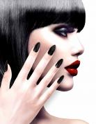 Selbstklebende Fingernägel 12 Stück schwarz