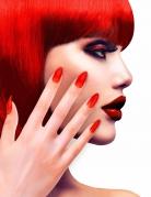 Künstliche Fingernägel Halloween 12 Stück rot