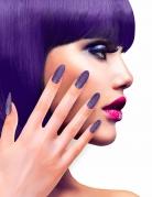 Künstliche Fingernägel Halloween 12 Stück lila