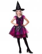 Halloween-Hexenkostüm für Mädchen schwarz-pink
