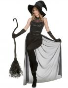 Dunkle Hexe Damenkostüm für Halloween schwarz
