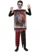 Horrorclown-Kinderkostüm für Halloween bunt