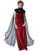 Vampirin Gothic-Cape Halloween Kostüm-Accessoire schwarz-transparent
