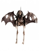Fliegendes Skelett Halloween-Hängedeko schwarz-beige 40cm