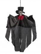 Tag der Toten Deko-Skelettgeist mit Zylinder schwarz-rot-weiss 30cm