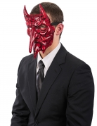 Teufel Halloween-Halbmaske Kostümaccessoire rot-schwarz