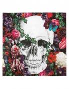 Dia de los Muertos Servietten mit Totenschädel und Blumen Halloween-Tischdeko 20 Stück bunt 33 x 33cm
