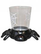 Süsse Spinne Becher Halloween-Tischdeko schwarz-transparent 7cm
