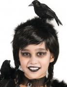 Haarreif mit Rabe Halloween schwarz