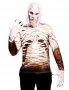 Zombie-T-Shirt für Erwachsene beige-braun