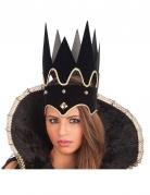 Finstere Mitternachtskönigin Krone Halloween Kostüm-Accessoire schwarz-gold