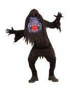 Gorilla-Kostüm für Jugendliche an Halloween schwarz-blau-rot