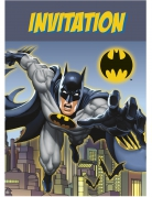Batman™-Einladungskarten 8 Stück bunt