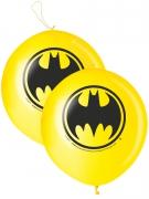 Batman™ Punching-Luftballons Lizenzartikel 2 Stück gelb-schwarz 40cm